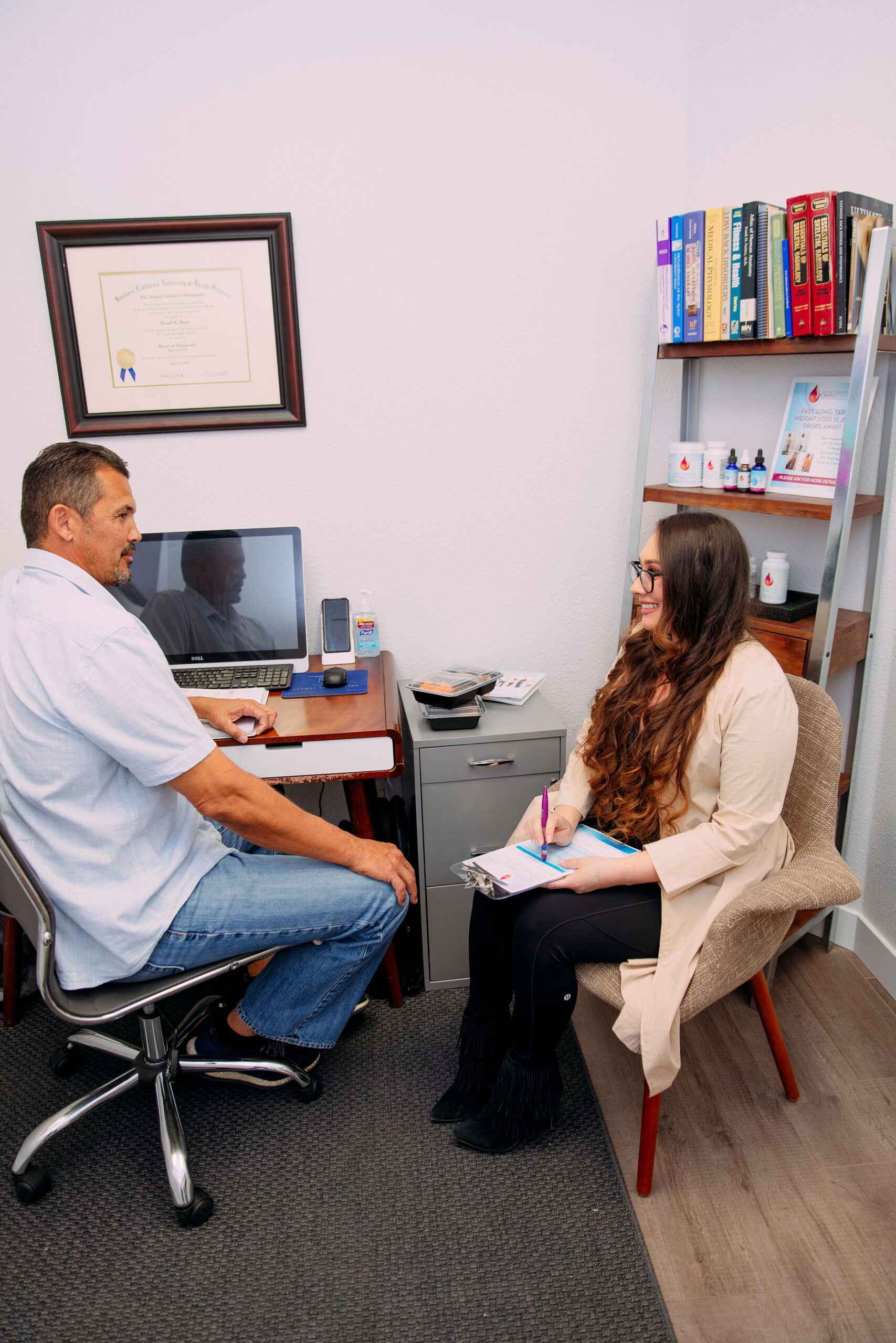 dr davis and weight loss client consult